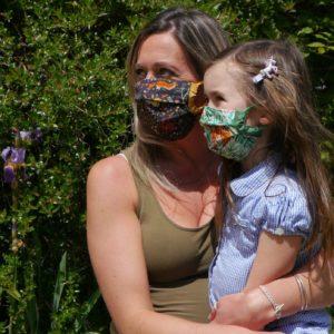 Jungle Face Mask, Re-usable, Handmade, 100% cotton-1159