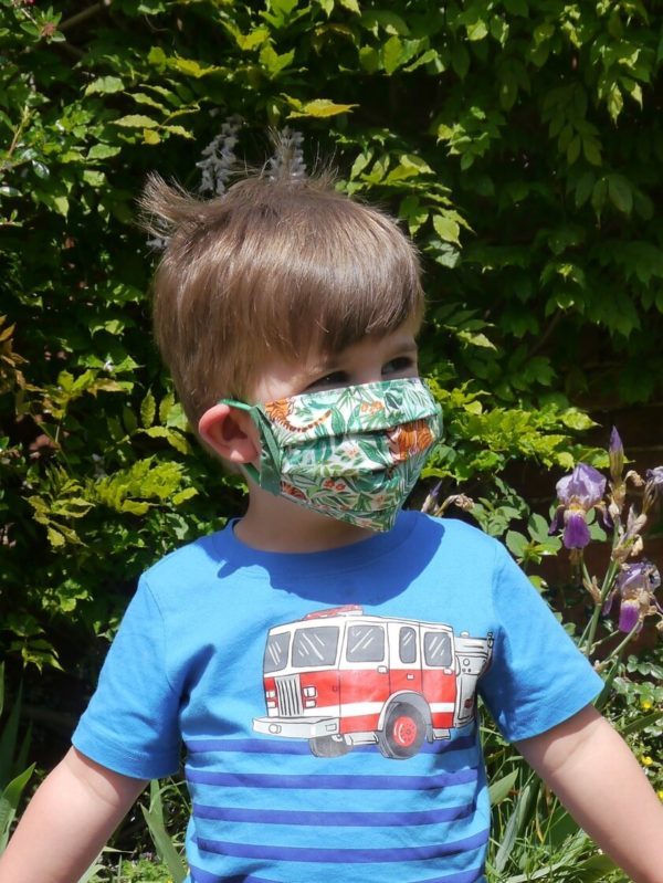 Jungle Face Mask, Re-usable, Handmade, 100% cotton-1158